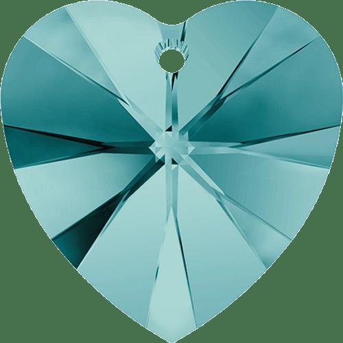 Swarovski 6202 / 6228 Heart Pendant 10mm BLUE ZIRCON [2 pcs]