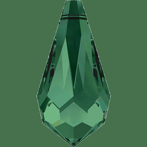 Swarovski 6000 Pointed Drop Pendant 15mm EMERALD [2 pcs]