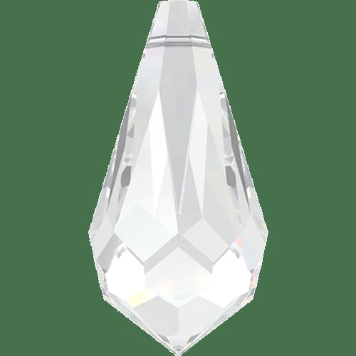 Swarovski 6000 Pointed Drop Pendant 15mm CRYSTAL [2 pcs]