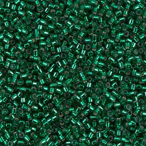 Miyuki Delica Beads 11/0 DB605 Silver Lined Emerald 7.2grams