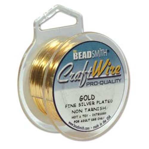 BeadSmith Craft Wire, Tarnish Resistant Gold