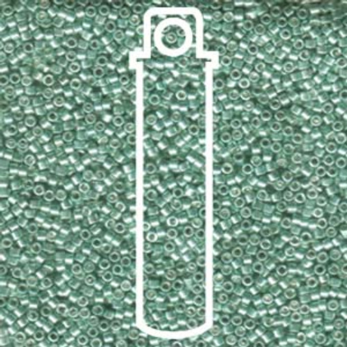 Miyuki Delica Beads 11/0 DB414 Galvanized Green 7.2 grams