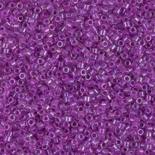 Miyuki Delica Beads 11/0 DB073 Lined Lilac AB 7.2grams