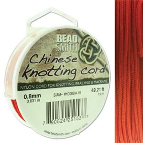 Macrame / Chinese Knotting Cord, Siam, 0.8mm (15 metres)