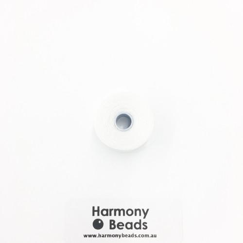 S-Lon (Nymo) Bead Cord, White, Size D, (78 yards/71 metres)