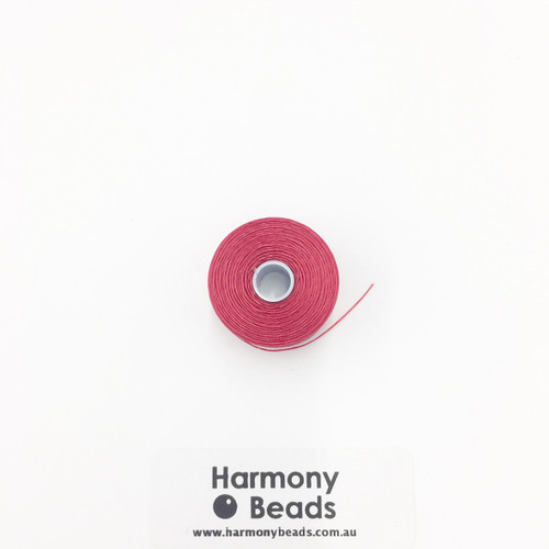 S-Lon (Nymo) Bead Cord, Red, Size D, (78 yards/71 metres)