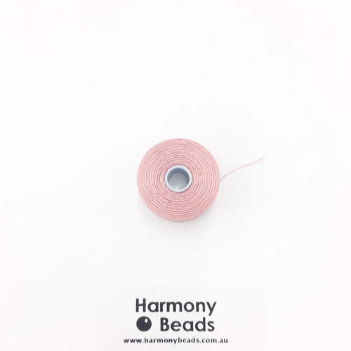 S-Lon (Nymo) Bead Cord, Rose, Size D, (78 yards/71 metres)