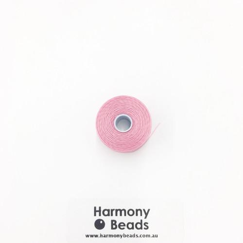 S-Lon (Nymo) Bead Cord, Pink, Size D, (78 yards/71 metres)