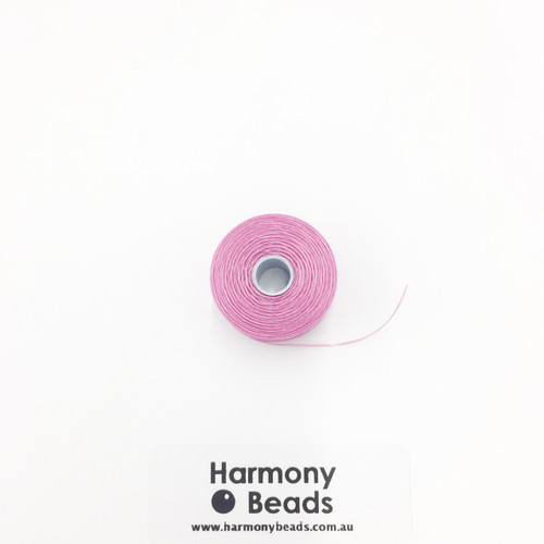 S-Lon (Nymo) Bead Cord, Light Orchid, Size D, (78 yards/71 metres)