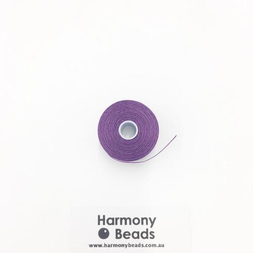 S-Lon (Nymo) Bead Cord, Purple, Size D, (78 yards/71 metres)