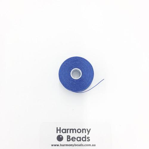 S-Lon (Nymo) Bead Cord, Royal Blue, Size D, (78 yards/71 metres)
