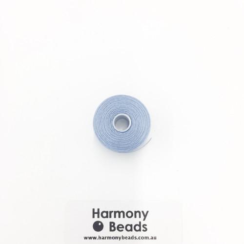 S-Lon (Nymo) Bead Cord, Sky Blue, Size D, (78 yards/71 metres)