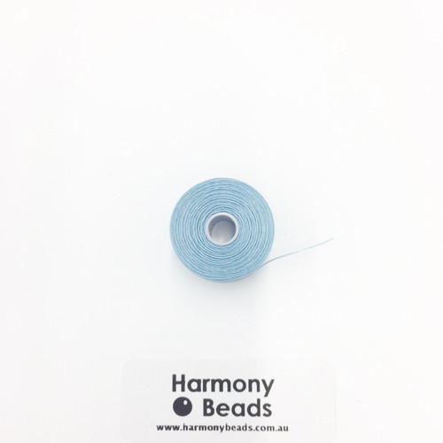 S-Lon (Nymo) Bead Cord, Light Blue, Size D, (78 yards/71 metres)