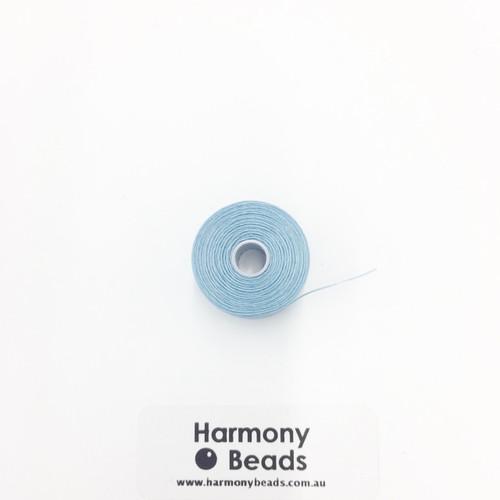 S-Lon (Nymo) Bead Cord, Light Blue, Size D, (78 yards/71 metres)
