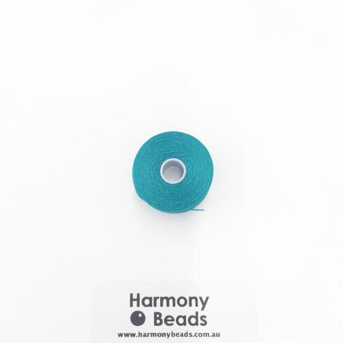 S-Lon (Nymo) Bead Cord, Teal, Size D, (78 yards/71 metres)