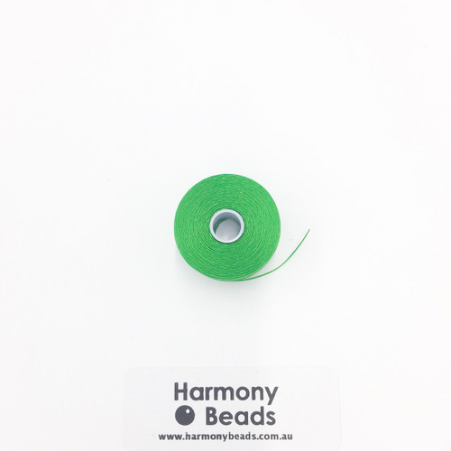 S-Lon (Nymo) Bead Cord, Green, Size D, (78 yards/71 metres)