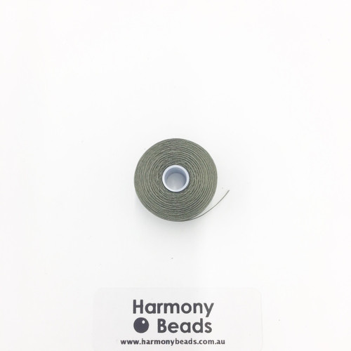 S-Lon (Nymo) Bead Cord, Olive, Size D, (78 yards/71 metres)