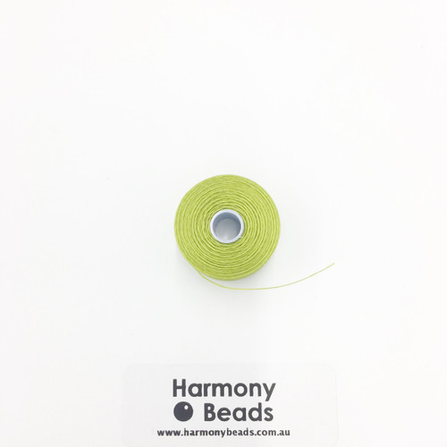 S-Lon (Nymo) Bead Cord, Chartreuse, Size D, (78 yards/71 metres)