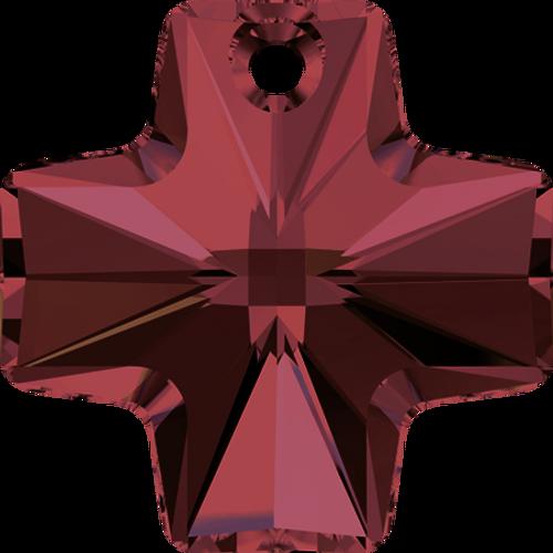 Swarovski 6866 Square Cross Pendant 20mm Burgundy [1 pc]