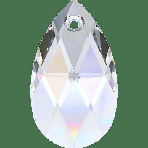 Swarovski 6106 Pear Drop / Tear Drop Shaped Pendant, Crystal AB 16mm [2 pcs]