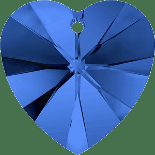 Swarovski 6202 / 6228 Heart Pendant 18mm Sapphire [2 pcs]