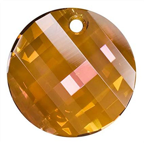 Swarovski 6621 Twist Pendant, Crystal Copper 28mm [1 pc]