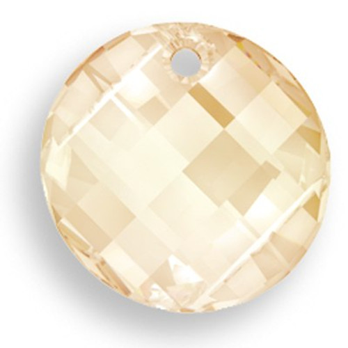 Swarovski 6621 Twist Pendant, Crystal Golden Shadow 28mm [1 pc]
