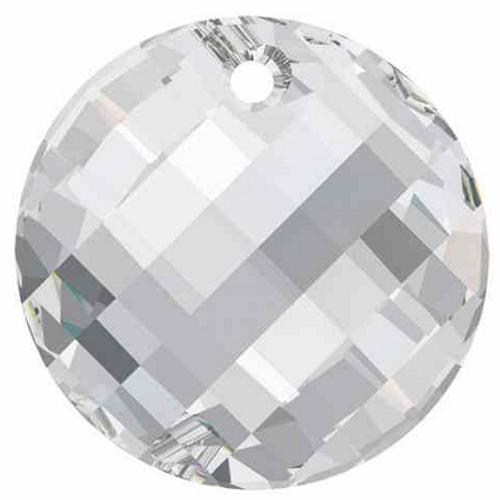 Swarovski 6621 Twist Pendant, Crystal Silver Shade 28mm [1 pc]