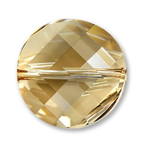 Swarovski 5621 Twist Bead, Crystal Golden Shadow 22mm [1 pc]