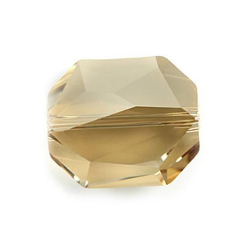 Swarovski 5520 Graphic Bead, 12mm, Crystal Golden Shadow [2 pcs]