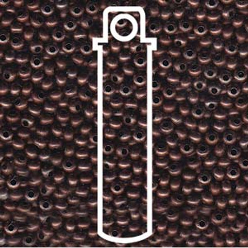 Metal Seed Beads 8/0 Antique Copper (COPANT) 38 grams