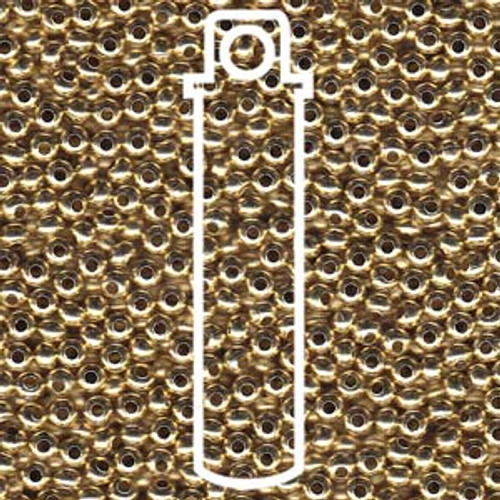 Metal Seed Beads 8/0 Yellow Brass (YBRS) 40 grams