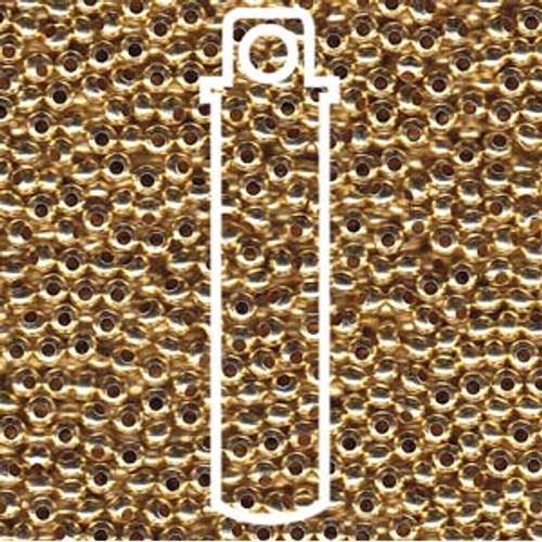 Metal Seed Beads 8/0 Gilding Metal (GLM) 38 grams