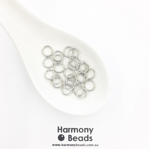 Jump Rings 8mm, Stainless Steel [25 pcs]