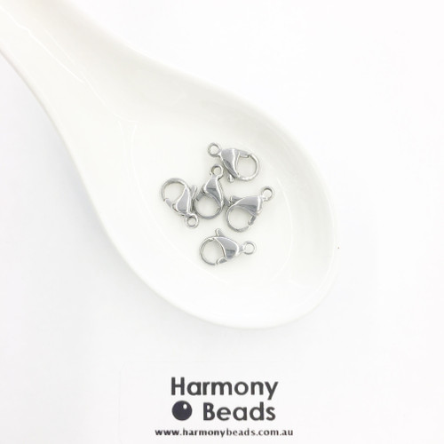Parrot Clasps 13mm Stainless Steel [5 pcs]