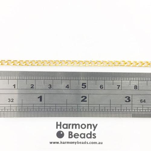 Curb Chain YA5100 in Gold Colour