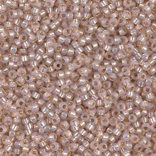 Miyuki Seed Beads 8-9579 Dyed Smoky Light Rose Silver Lined Alabaster 22 grams