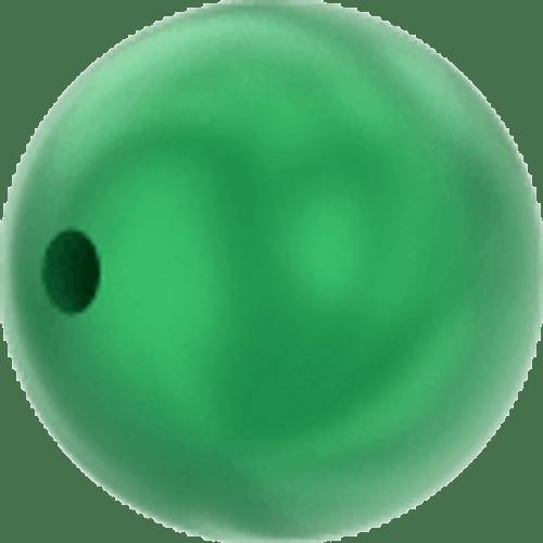 Swarovski 5810 Round Pearl Bead, Crystal Eden Green [10pcs]