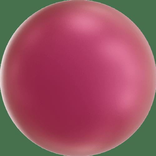 Swarovski 5810 Round Pearl Bead, Crystal Mulberry Pink