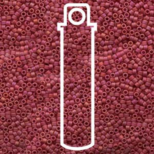 Miyuki Delica Beads 11/0 DB874 Matte Opaque Maroon AB 7.2grams
