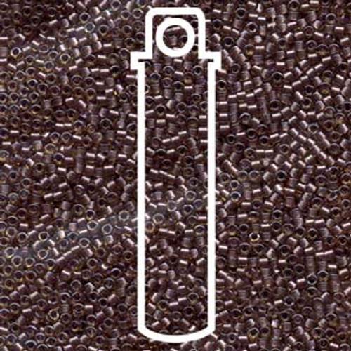 Miyuki Delica Beads 11/0 DB912 Sparkling Amethyst Lined Topaz 7.2grams