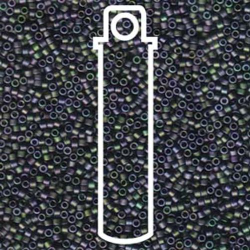 Miyuki Delica Beads 11/0 DB1053 Matte Metallic Purple Green Gold Iris 7.2grams