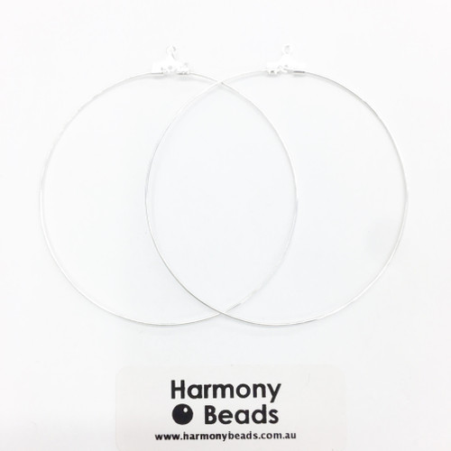 Earring Hoops 60mm Silver Colour [2 pairs]