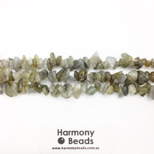 Labradorite Small Chip Beads, Natural