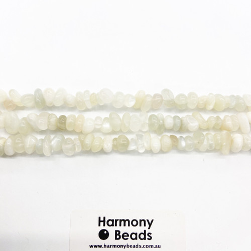 Moonstone Small Chip Beads, Natural