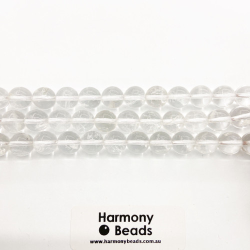 Clear Quartz Smooth Round Beads, Natural, 10mm