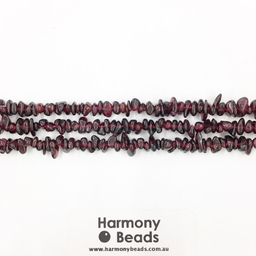 Garnet Small Chip Beads, Natural