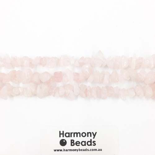 Rose Quartz Smooth Round Beads, Light Pink, 8mm