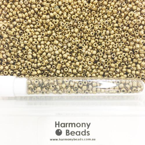 Glass Seed Beads 8/0 Metallic Bronze [5 gram tube]