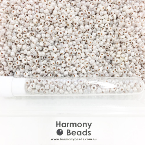 Glass Seed Beads 8/0 Mocca Ceylon Pearlescent [5 gram tube]